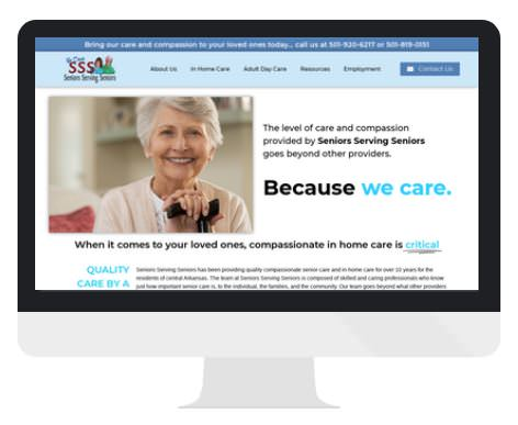 senior health care AR choice medicaid for in-home care in Sherwood, AR, Seniors Serving Seniors hired Shining Star Interactive for their new website